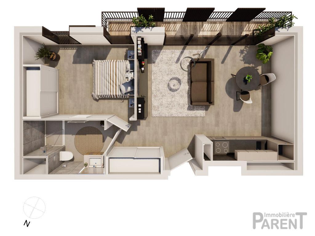 Appartement Issy-Lès-Moulineaux 2 pièces 46.30 m2