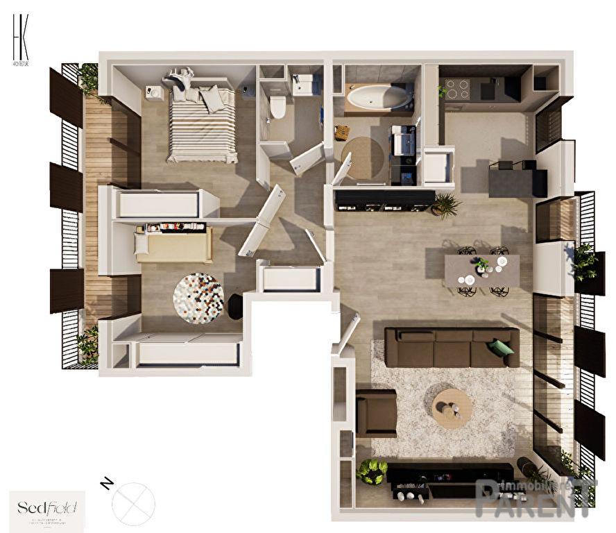 Appartement Issy-Lès-Moulineaux 3 pièces 74.50 m²