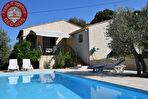 Villa T4 plein sud, piscine en traditionnel, 1500 m2 de terrain clos.