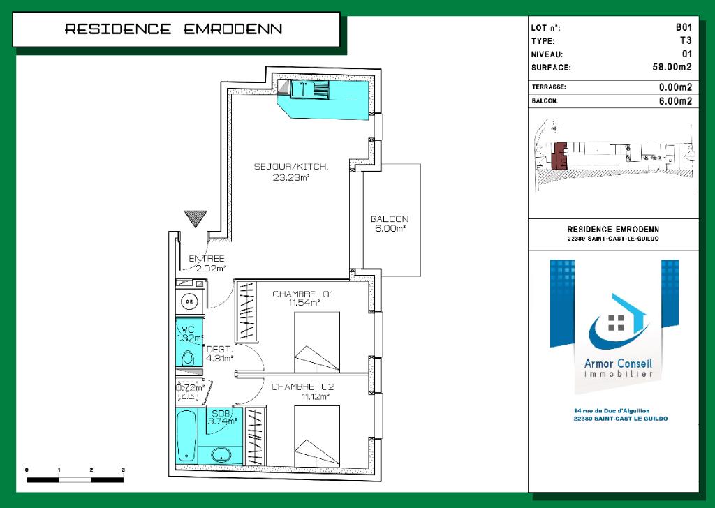 Appartement T3 Lot n° B01