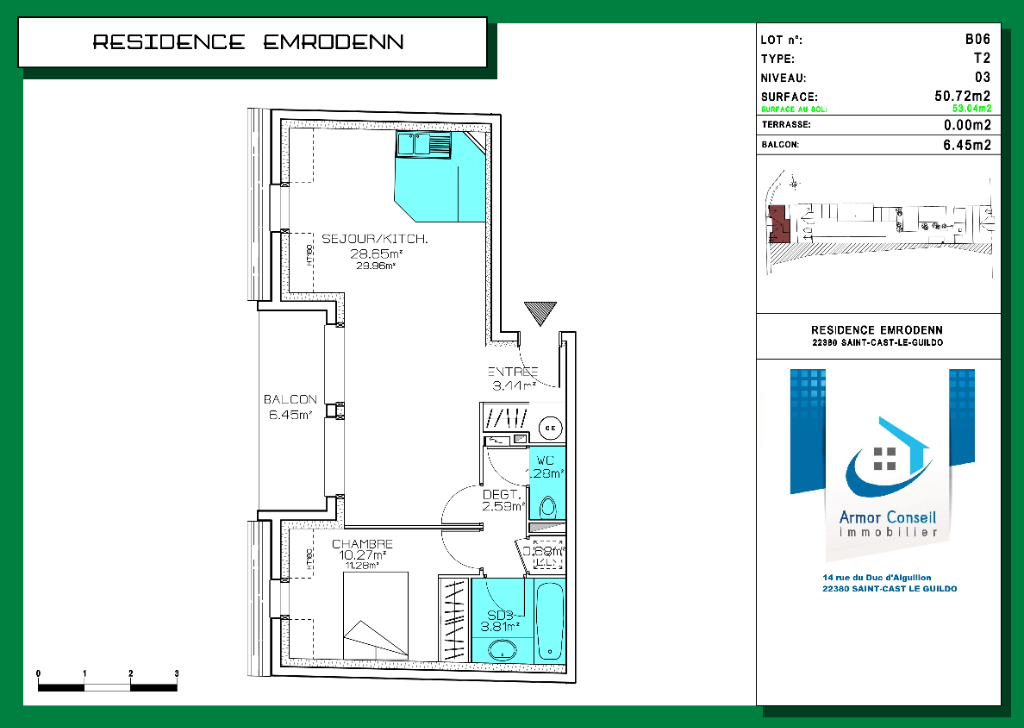 Appartement T2 lot n° B06