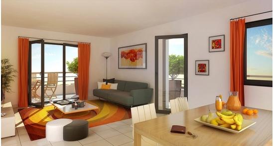 Grand appartement neuf trois pièces  à St Malo, quartier gare
