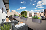 Exclusivité. Jourdain. Exceptionnel duplex neuf aux derniers étages de 6 pièces  de 130m2 carrez  avec terrasse de 36,25m2 et balcons/terrasses 34,30m2 sans vis à vis au calme. 1/16